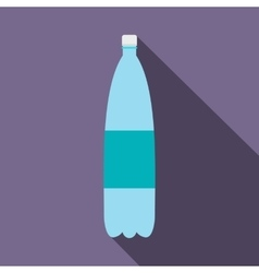 Plastic bottle of water flat icon vector image