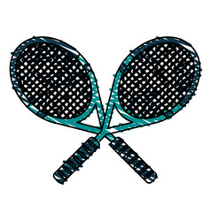 rackets vector image vector image