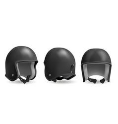 retro black motorcycle helmet vector image
