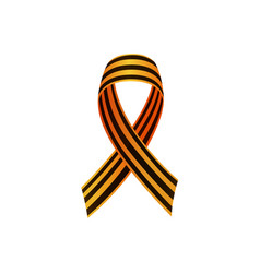 russian victrory day ribbon with crossed ends vector image
