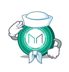 Sailor maker coin character cartoon vector