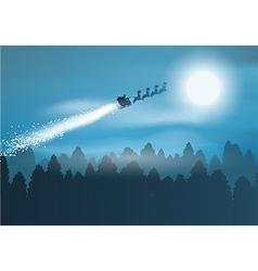 santa in the sky 1710 vector image
