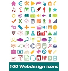 Simple webdesign icon set vector