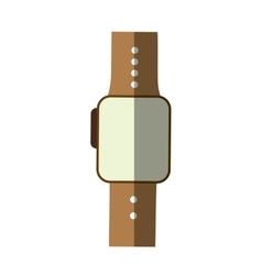 smart watch wearable technology modern shadow vector image