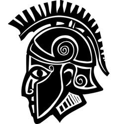 Spartan soldier profile vector