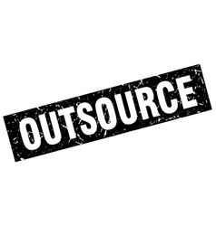 square grunge black outsource stamp vector image