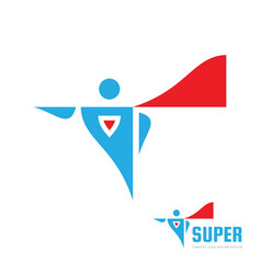 super human concept logo design abstract comix vector image