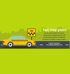 taxi stop place banner horizontal concept vector image