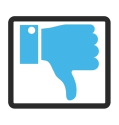 Thumb Down Framed Icon vector