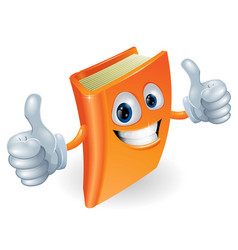 Thumbs up book cartoon character vector
