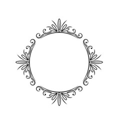 vintage round classic contour frame vector image