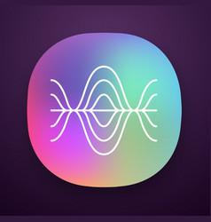 Voice recording app icon vibration noise level vector