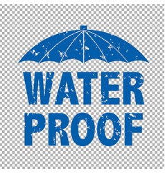 Water prooff text vector