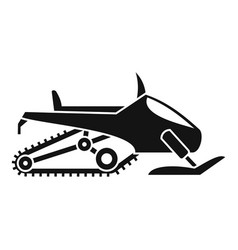 winter snowmobile icon simple style vector image