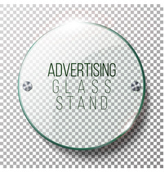 advertising round glass blank 3d realistic vector image
