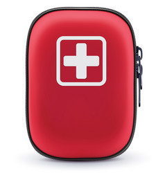 first aid red bag isolated on white vector image vector image