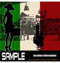 Italian travel flyer vector image vector image