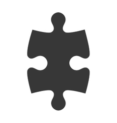 Puzzle piece icon silhouette vector