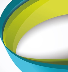 Abstract 3d technology circles backgound Eps 10 vector image vector image