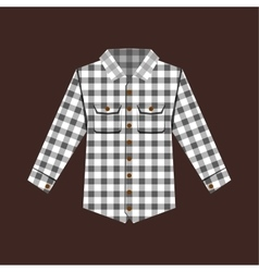 Cheskered shirt isolated vector image vector image
