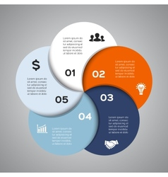 circle diagram infographic for business vector image