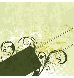 green flourish background vector image vector image