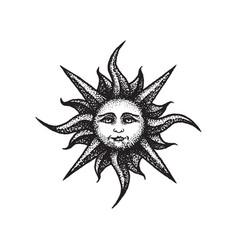 hand drawn sun vector image vector image