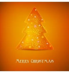 Stylized luminous christmas tree background with vector image