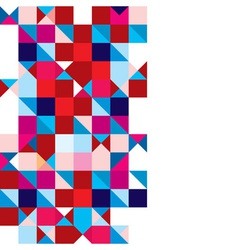 Triangle abstract tricolour vector image vector image