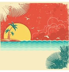 Vintage nature tropical seascape background vector image vector image