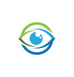 branding identity corporate eye care logo design vector image vector image