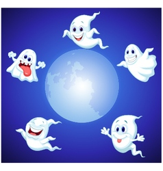 Halloween ghost cartoon vector image vector image