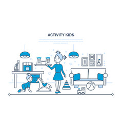 hobbies activity entertainment kids games vector image vector image