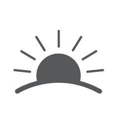sunrise logos vector image vector image