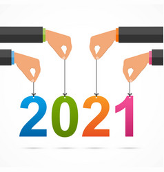 2021 year keep their hands on threads vector