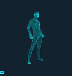 3d model of man polygonal design geometric design vector
