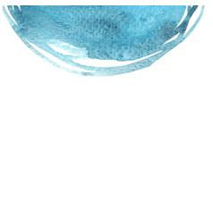 Abstract aqua marine blue color semi circle vector