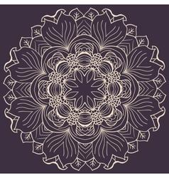 Abstract circular floral pattern vector