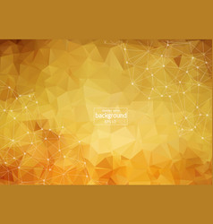 abstract polygonal brown background with vector image