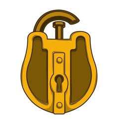 Antique golden lock vector