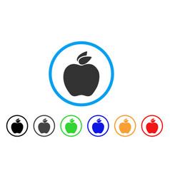 apple rounded icon vector image