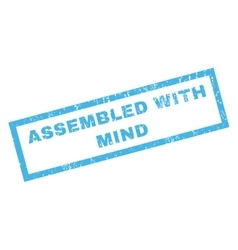 Assembled With Mind Rubber Stamp vector