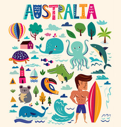 Australian symbols vector