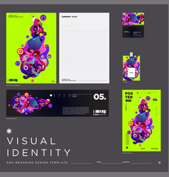 Background visual identity brand template vector