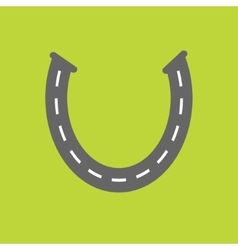 Background with road white marking Horseshoe vector image