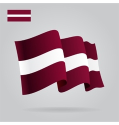 Background with waving Latvian Flag vector