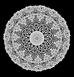 baroque style greek mandala pattern tribal vector image