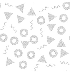 Black and white universal geometric seamless vector