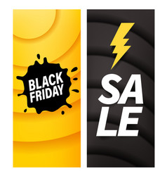black friday sale banners template vector image