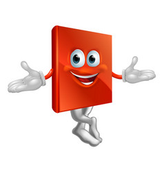 book mascot man vector image